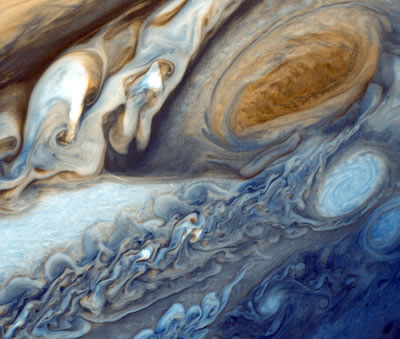 Clearly Jupiter, which rules the sign Pisces, was invented by a Pisces. Here, the Great Red Spot and other features in the planet's southern hemisphere are revealed by Voyager 1. Contrary to popular belief, Jupiter is actually denser than Saturn.